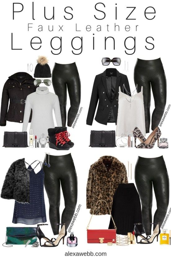 Plus Size Faux Leather Leggings Outfit Ideas – Part 2 | Leather .