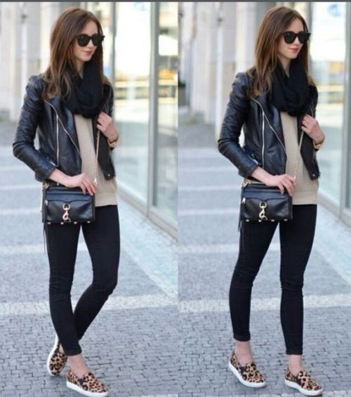 Leather moto jackets styling ideas | | Just Trendy Gir