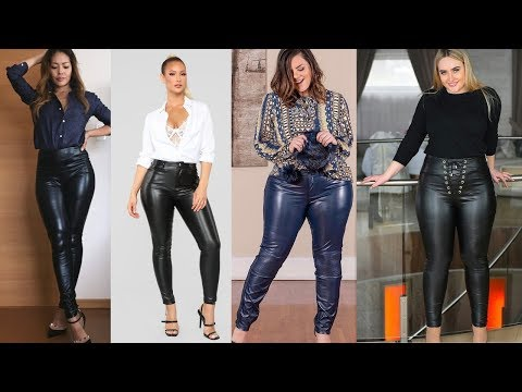 Leather pants outfit ideas || Women's fashion inspiration .