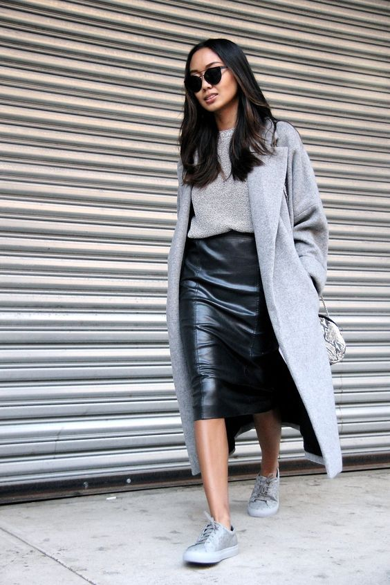 17 Sassy Ideas to Wear Skirts and Sneakers | Mooie outfits .