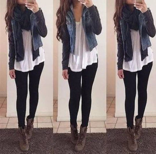 Cute outfits ideas with leggings suitable for going out on fall 26 .