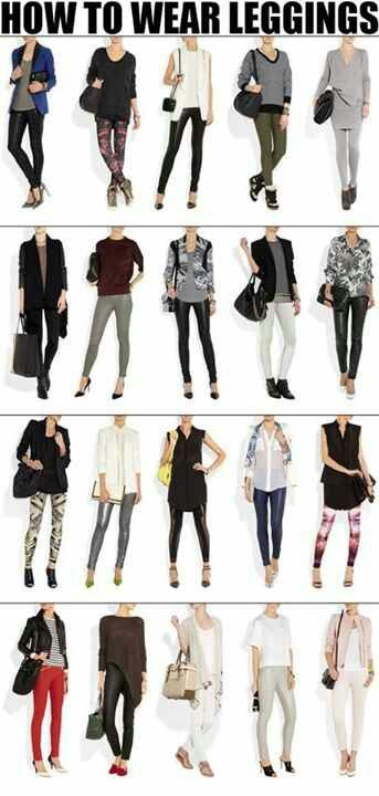 How to wear leggings? What to wear with leggings? | How to wear .