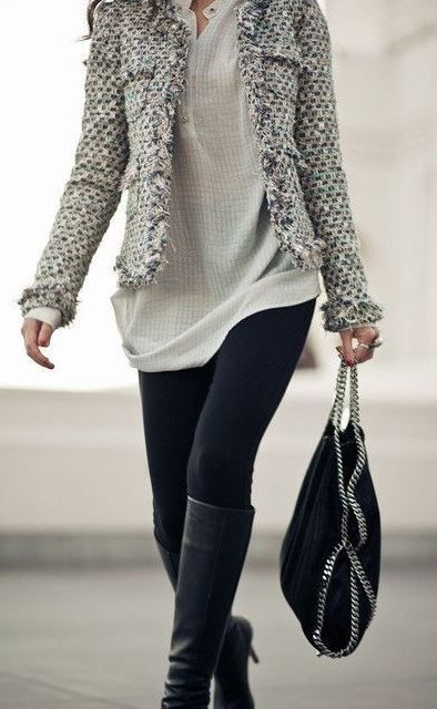 This is such a cute outfit with black leggings | Fashion, Clothes .