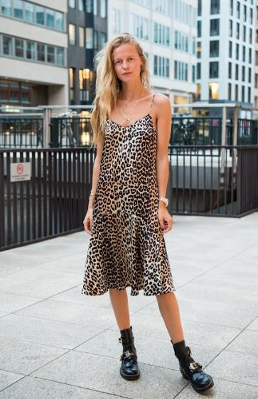 Trends leopard print slip dress fall looks outfit ideas #trends .