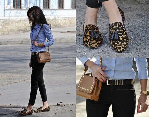 leopard print loafers | Loafers outfit, Fashion lookbook, Zara ba