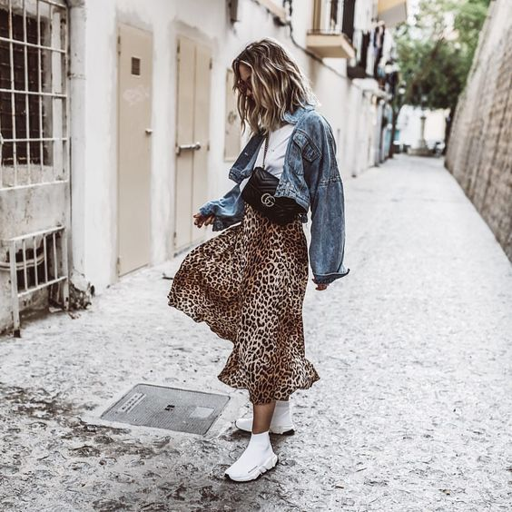 3 Different Leopard Print Skirts 3 Outfit Ideas | Street style .