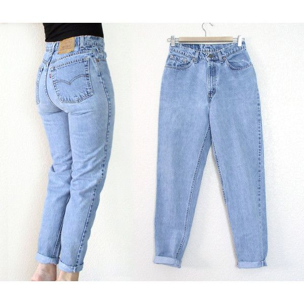 Vintage 80s 90s High Waist Levi's 512 Tapered Leg Jeans - Women's .