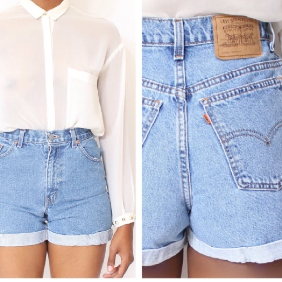 Levi's Shorts | Levis Vintage High Waisted Mom Jeans | Poshma