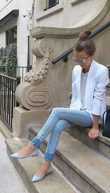 15 Casual Jeans And A Blazer Outfit Ideas - Styleohol
