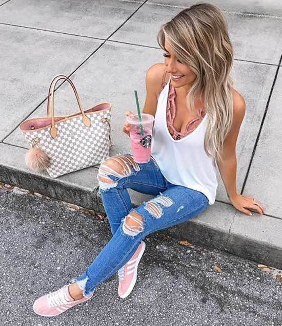 24 Cute Outfits with Blue Jeans for Denim Addicts - Outfit Styl