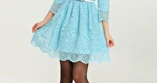 Best 13 Light Blue Lace Dress Outfit Ideas for Ladies - FMag.c