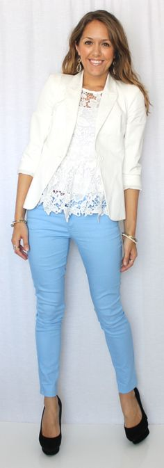 22 Best Blue pants outfit images | Cute outfits, Blue pants outfit .