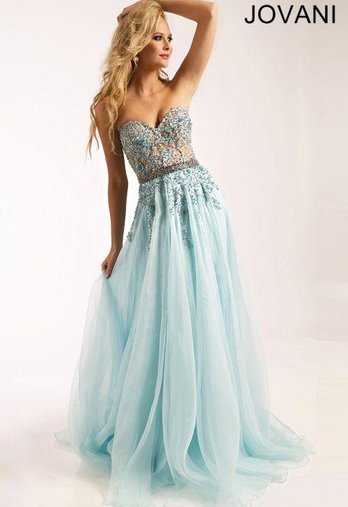 Stunning Cinderella light blue prom dress 2015 by Jovani .