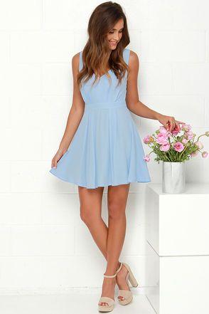 Heaven's Adore Light Blue Backless Dress | Light blue dresses .