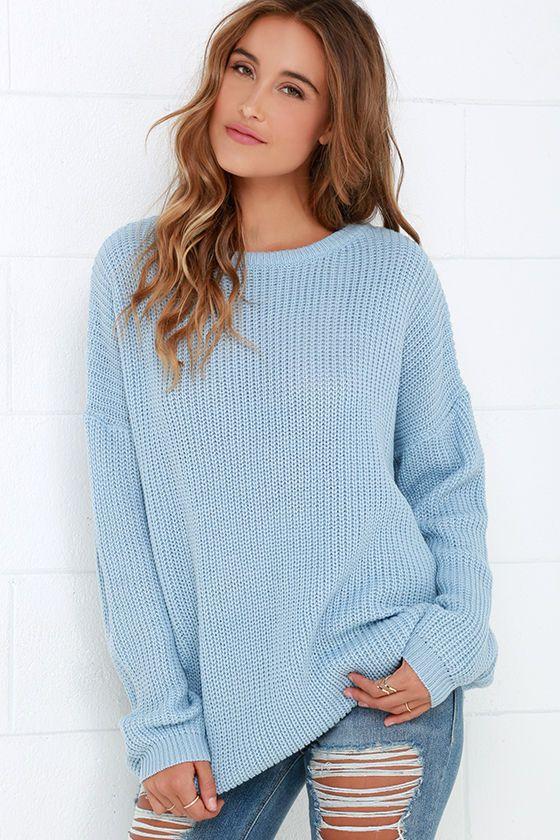 Island Ferry Light Blue Sweaterat Lulus.com! | Light blue sweater .