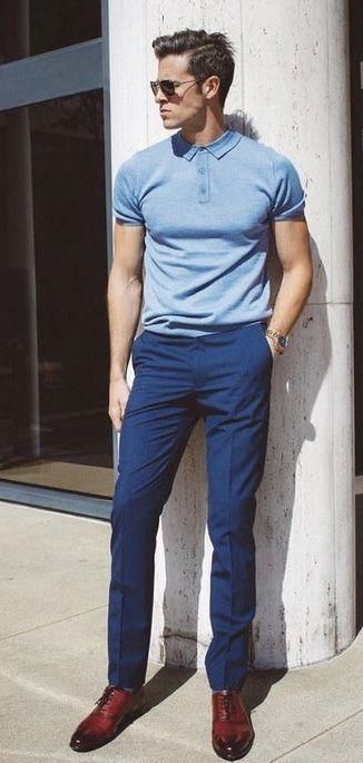 parkeryorksmith - with a summer outfit idea with a light blue polo .