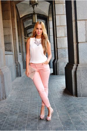 light-pink-blanco-bag-bubble-gum-h-m-pants-bubble-gum-zara .