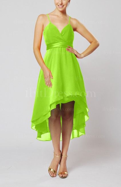 Lime Green Bridesmaid Dress------ Hot pink with bright orange .