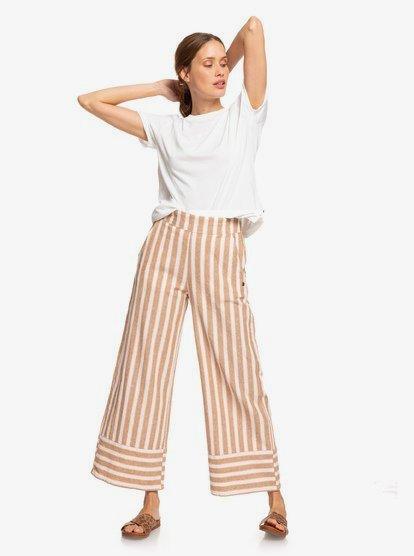 Wild Ideas Wide Leg Linen Pants ERJNP03247 | Ro