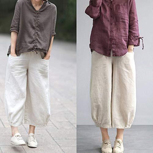 Amazon.com: harem linen pants/women: Handma