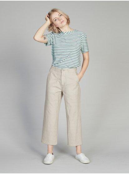 Quiksilver Women's Flared Cropped Linen Pants EQWNP03006 | Quiksilv