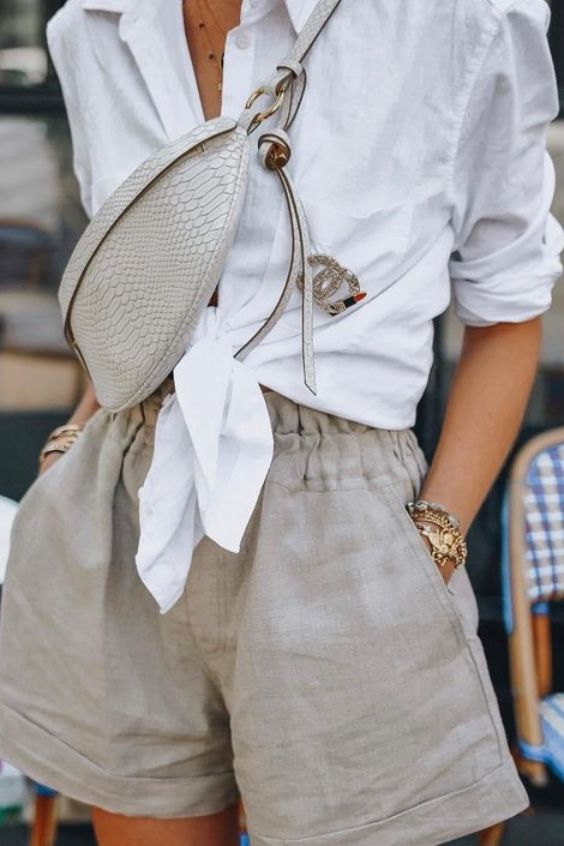 25+ Ways To Style A Button-Down Shirt | Fashion, Summer outfit .