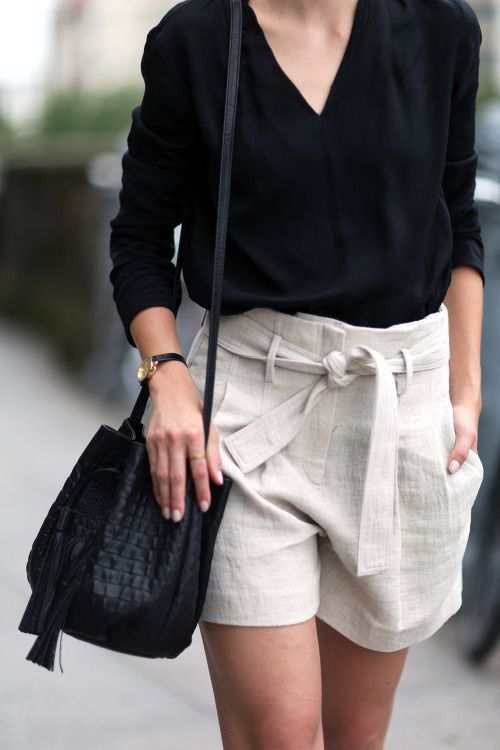 linen shorts | Fashion clothes women, Neutral fashion, Fashi