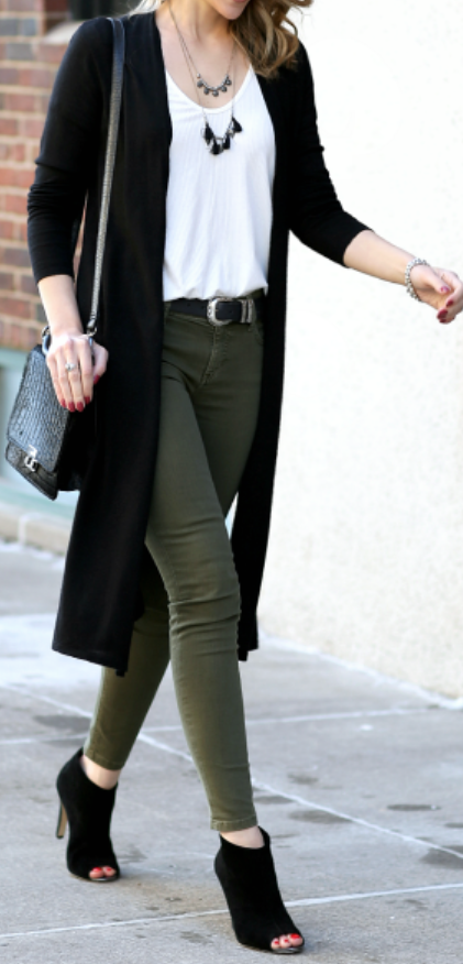 16 Cheap Black Cardigan Fall Outfit Ideas - Style Spac