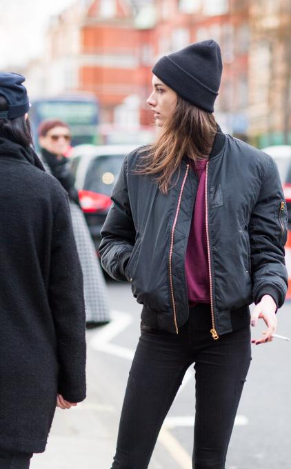 Bomber jacket beanie women tumblr Style streetstyle | Style .