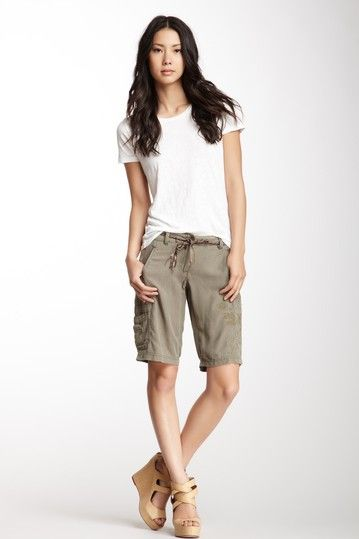 Beaded Silk Bermuda Short | Cargo shorts women, Pretty outfits .