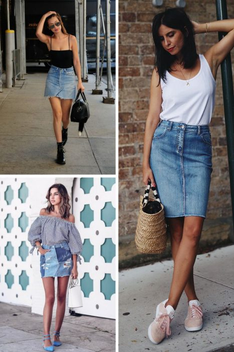 Amazing Denim Skirts Outfit Ideas 2020 - OnlyWardrobe.c