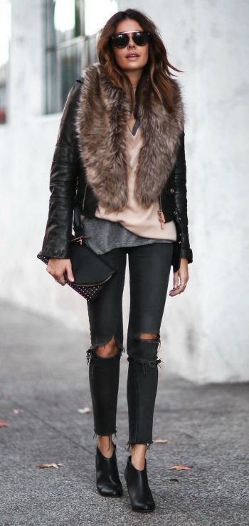 How To Wear A Faux Fur Stole Or Faux Fur Collar Coat In Winter .