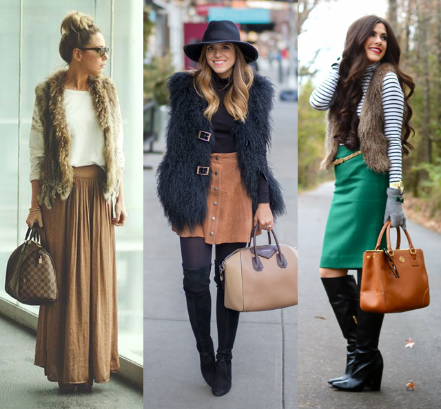 How to Wear a Fur Vest? Interesting Outfit Ideas   Fashion Rul