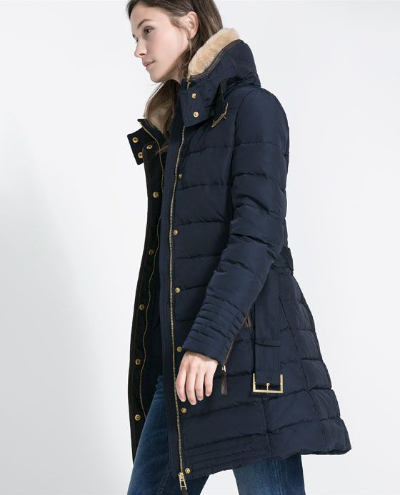 SEMI-LONG PUFFER ANORAK from Zara