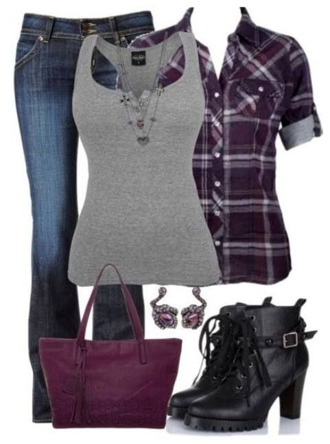 25 Pretty & Plaid Wintertime Outfit Ideas - Polyvore Outfits for .