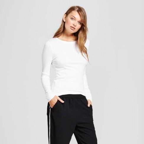 Women's Regular Fit Long Sleeve Crewneck T-Shirt - A New Day .