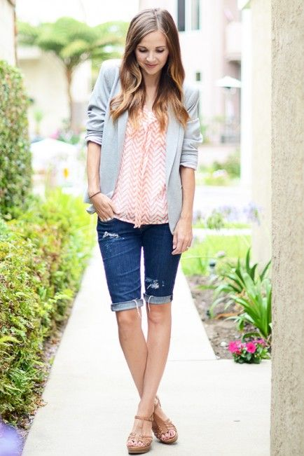 How To Wear Summer Shorts: Denim | Summer fashion outfits, Modest .
