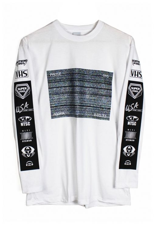 Agora VHS Static Long Sleeve t shirt | Long sleeve shirts, Sleeves .