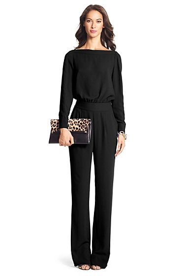 Cynthia Long Sleeve Jumpsuit In Black | Wardrobe Ideas | Fashion .