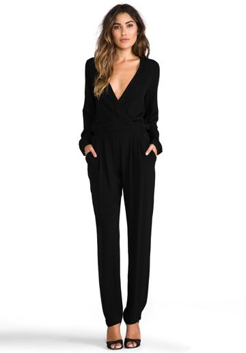 Long Sleeve Jumpsuit in Black - Rompers Jumpsuits | Fashion .