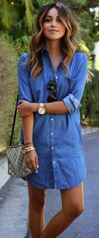 25 Simple Ways To Wear A Shirt Dress - Outfits & Ideas | Womens .