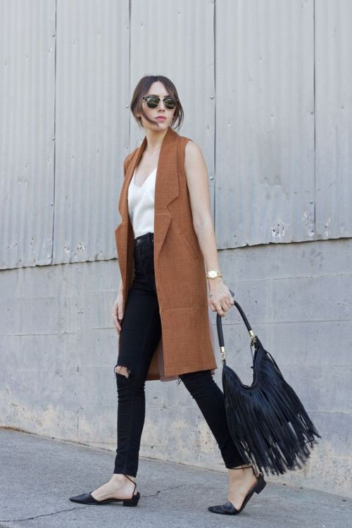 How to wear long vests | | Just Trendy Gir