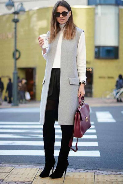 How to Style Long Sleeveless Vest: 15 Best Outfit Ideas - FMag.c