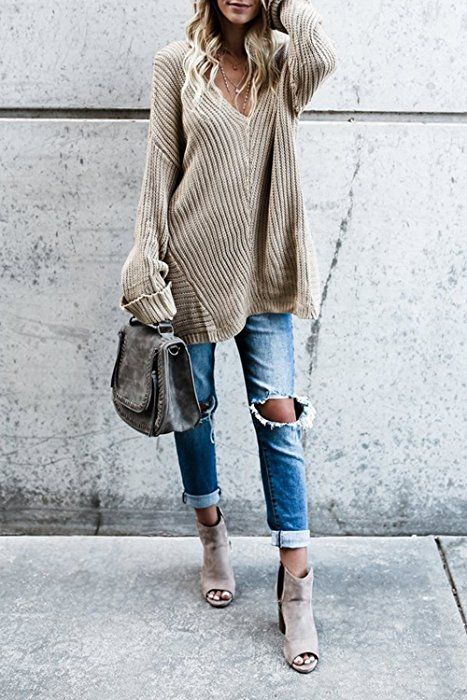 Womens Tops Tunic Long Sleeve Oversized Knit Fall Cute Womans .