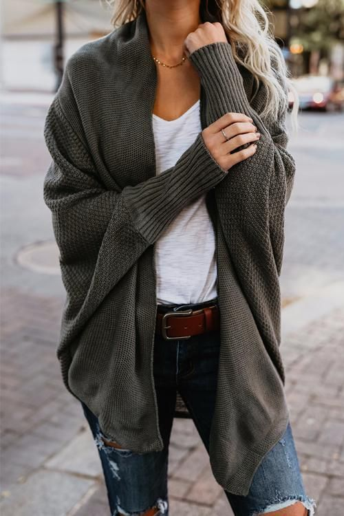 37 Batwing Cardigan Outfit Ideas for Fall | Fashion, Casual .