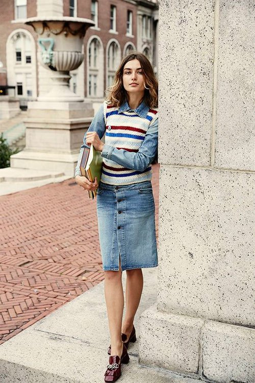 How to Style Sweater Vest: 15 Cozy Outfit Ideas for Women - FMag.c