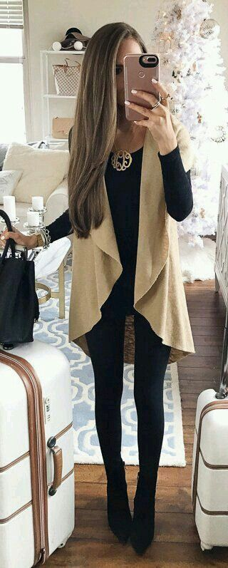 43 Insanely Cool Fall Outfits Ideas #Outfits # | Black leggings .