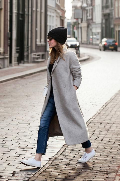 20 Winter Outfit Ideas | Winter coat outfits, Long grey coat, Long .