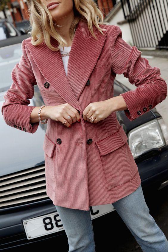Longline Velvet Double Breasted Blazer | boohoo | Fashion, Street .
