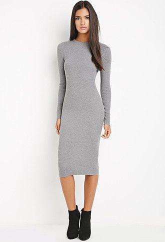 Midi Bodycon Sweater Dress | LOVE21 | #f21contemporary | Ropa .